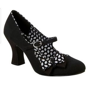 Ruby Shoo Black Bow-Accent Celia Mary Jane